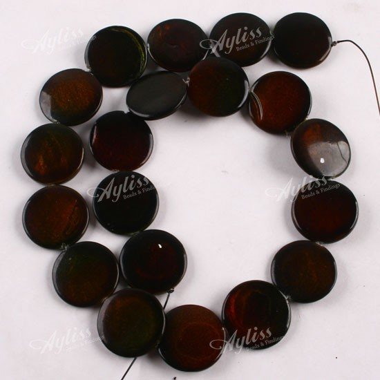 20mm Bead Beads: 20mm MOP Mother Of Pearl Shell Round Coin Button Bead For
