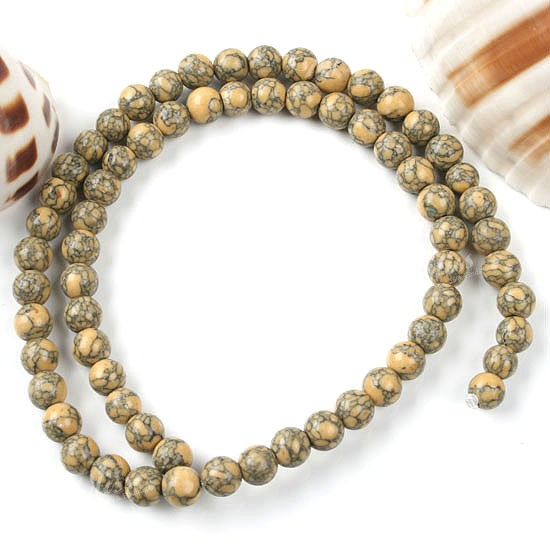 Strand howlite turquoise gemstone round ball loose beads for Birthstone beads for jewelry making