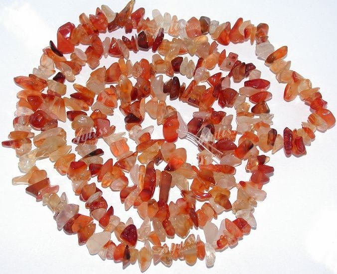 Gorgeous Carnelian Agate Gemstone Chips Loose Beads