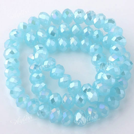 Blue-AB-Crystal-Glass-Rondelle-Faceted-Loose-Bead-15-5