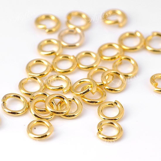 300x bulk jump rings gold plated 0 8x4mm jewelry findings