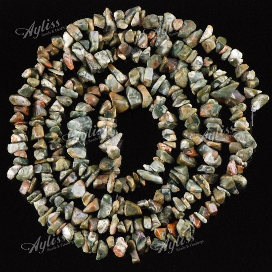 Various Natural Gemstone Freeform Chips Loose Beads Jewellery Finding 1 Strand