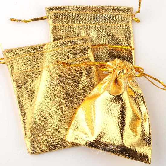 Organza Wedding Favor Bags Wholesale : 50PCS Wholesale Golden Organza Jewelry Gift Bags Favor Pouch Wedding ...