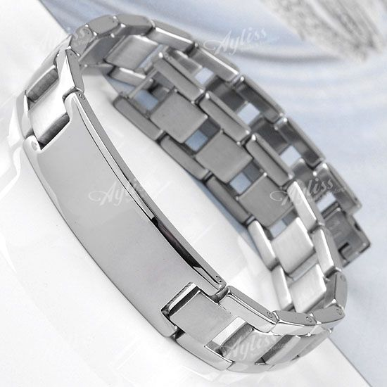 "Stainless Steel Watch Belt Style Link Men's Bracelet 8.5""L Fashion Jewelry"