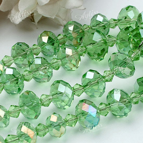faceted glass bead chain magnetite clasp