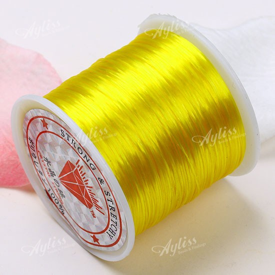 0.5mm Yellow Elastic Beads Crystal Cord Stretchy String